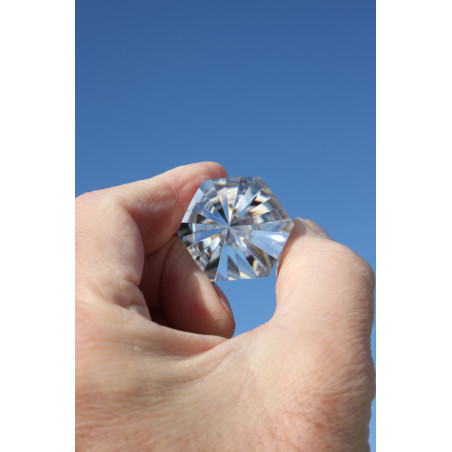 Farfalla Rauchquarz 13 Facetten Phi-Kristall