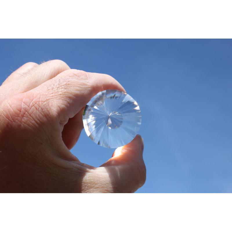 Herzöffner Rosenquarz 24 Facetten Phi-Kristall