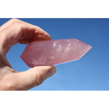 Elohim Vista  12 Gates Phi Crystal with blue rutiles