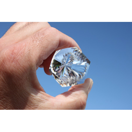 Asana Light smoky quartz 12 Facet Phi Crystal