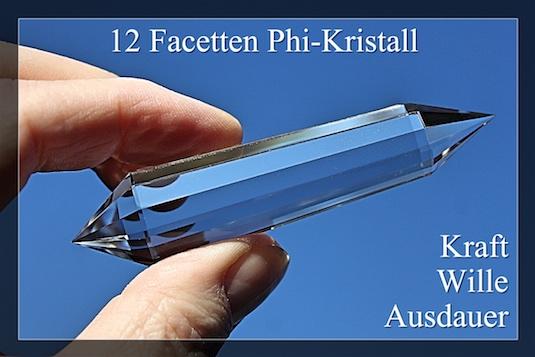 12 Facetten Phi-kristalle - DoppelEnder