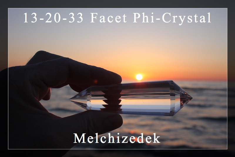 Melchisedek 13-20-33 Facet Phi Crystal  Quartz Crystal - Double Terminated