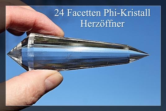 24 Facetten Phi-kristall - DoppelEnder