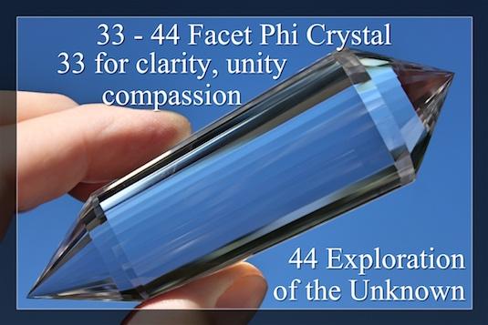 33 facet phi crystal