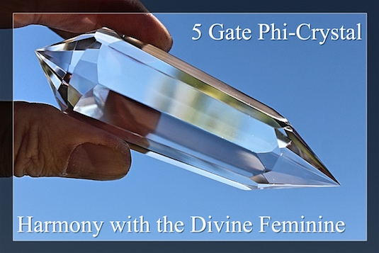 5 Gate Phi-Crystals Harmony with the Divine Feminine