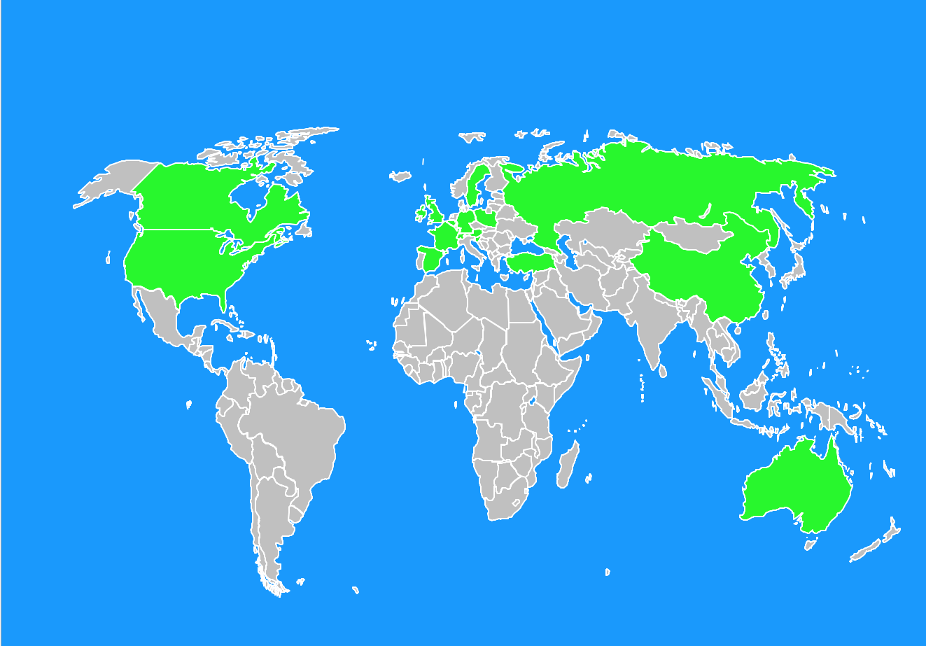 Customers from all over the world buy at Phi-Kristalle.de - see world map -